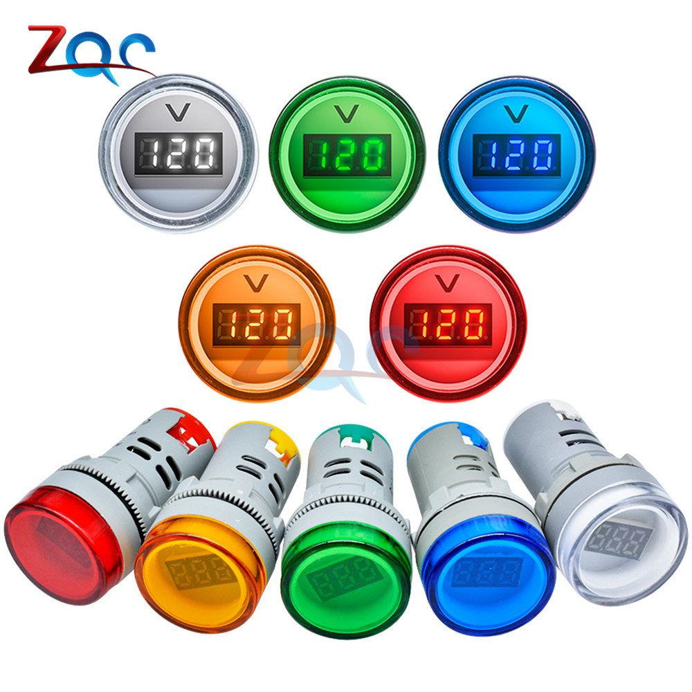 22MM AD16 AD16-22DSV Type AC 60-500V Mini Voltage Meter LED Digital Display AC Voltmeter Indicator Light/Pilot Lamp 110V 220V