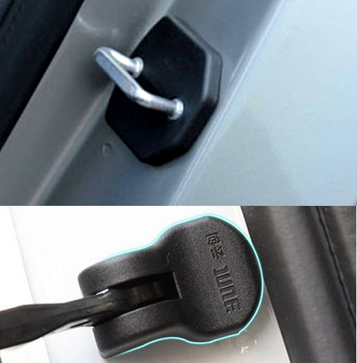 Combo Set For Ford Kuga 2 Escape 2013-2017 Car Door Lock Cover   Arm Check Checker Buckle Stopper Arrester Catch Case Hinge Cap
