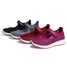 cheap Women Sports Shoes Lightweight Summer Breathable Flats Mother Girls Pregnant For Waking Running Moccasins Ladies Sneakers waking beauty