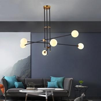 Vintage magic hanging light stylish sphere ball industrial LOFT Iron  droplight Black Gold tree classic modern LED pendant lamp