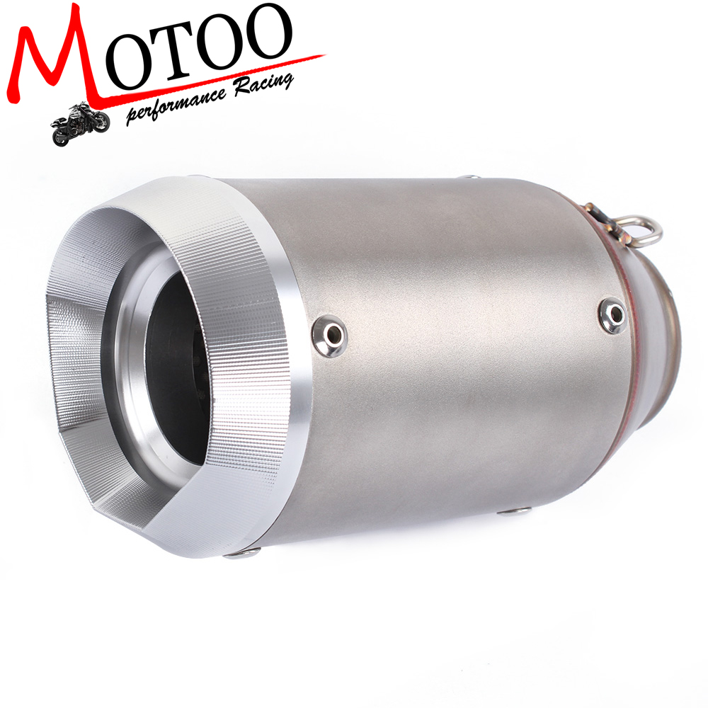 Motoo - Universal 36-51mm Motorcycle exhaust Modified Scooter Exhaust Muffle GY6 silencer escape