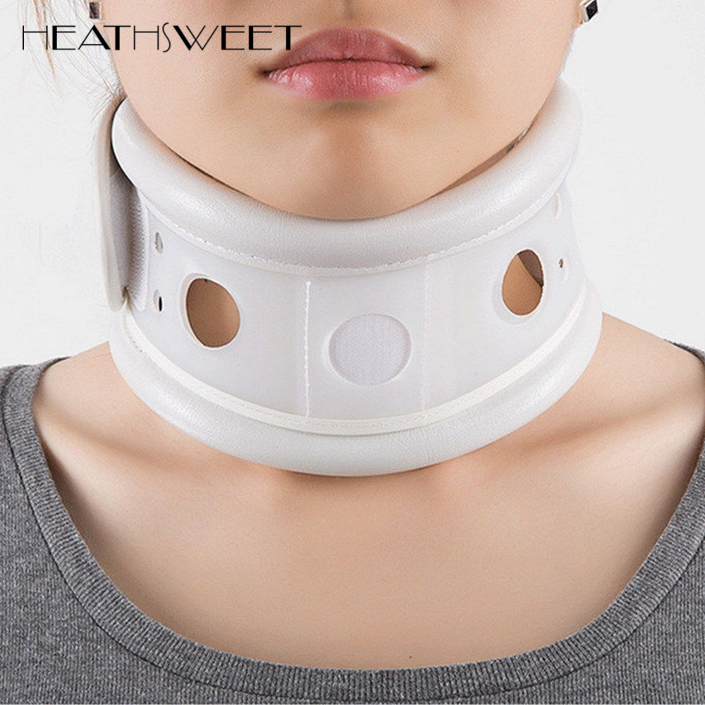 Healthsweet Neck Brace Cervical Collar Soft Neck Support Cervical Brace Fixing Band Collar Traction Pain Relieve Neck Message healthcare products cervical traction orthopedic neck support brace neck collar polyester 85