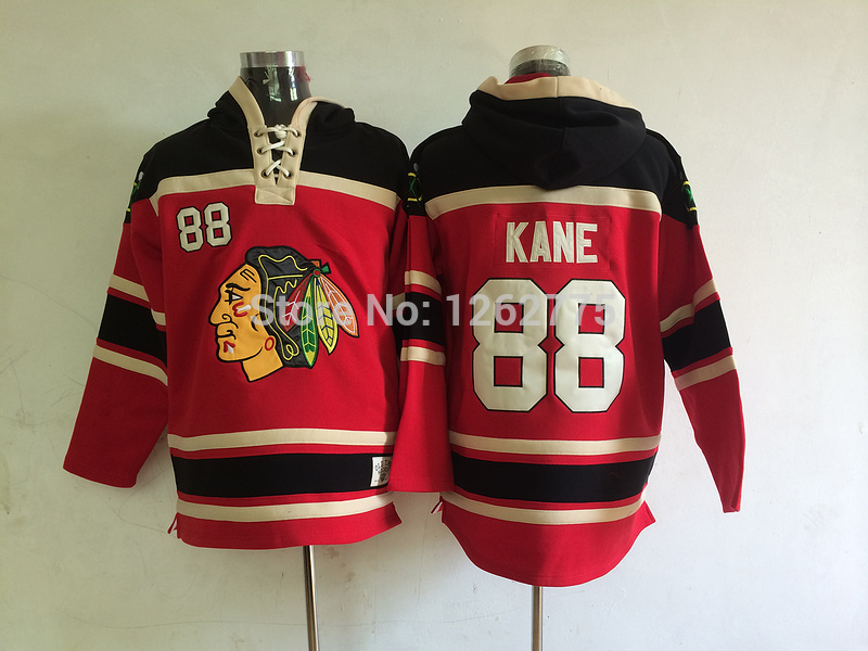 Chicago Blackhawks 88 Patrick Kane Cream Green Red Old Time Hockey Hoodie  ice ... 4ec441e82
