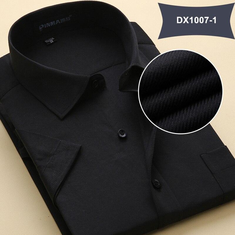 Летняя Стильная мужская одежда, мужская повседневная рубашка с коротким рукавом и отложным воротником, мужские рубашки, одноцветные рубашки для мужчин - Цвет: DX10071