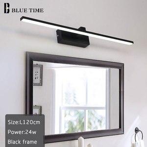 Image 3 - 새로운 디자인 패션 LED 벽 램프 욕실 머리맡 현대 거울 전면 빛 흑백 완료 LED 벽 조명 AC220V110V