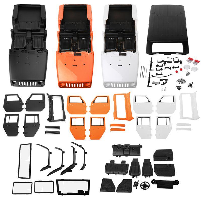 313mm Empattement 1/10 RC Carrosserie De Voiture pour Jeep Pour Wrangler Axial SCX10-II 90046/90047 TRX4 Kit Télécommande Pièces en plastique