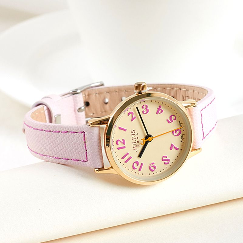 Julius Women's Watch Japan Quartz Modern Classic Fashion Hours Dress Simple Retro Leather Girl Birthday Valentine Gift Box