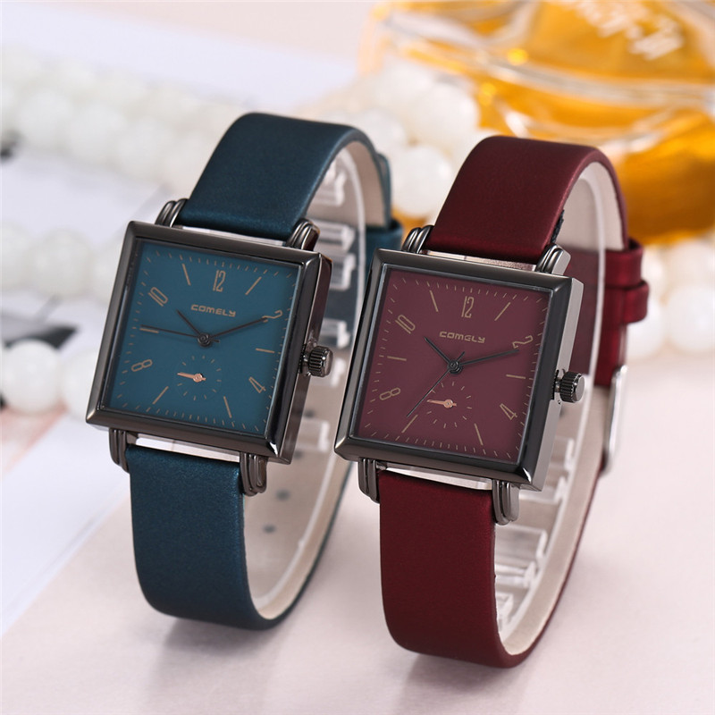 2018 Women Watch 2017 Luxury Canvas Fashion Casual Leather Band Analog Quartz Square Wrist Watch Watches Hot Sale yoner hot sale business watch collection for office ladies fashion roman leather band analog quartz wrist watch
