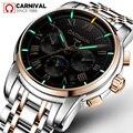 Карнавальный роскошный бренд Tritium T25  светящиеся военные часы  мужские автоматические механические часы с сапфиром  полностью стальные водо...