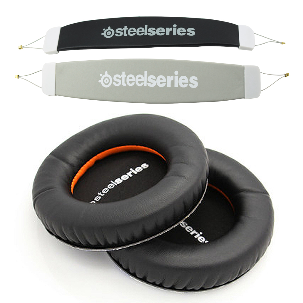 Audio Headband Cushion Head Band Pads + Ear Pad For Steelseries Siberia V1 V2 V3 Prism Gaming Headphones