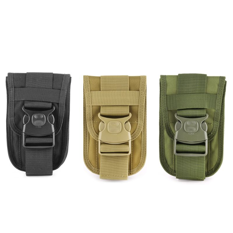 Waterproof Tactical Military MOLLE Vest Belt Pouch Pendant Bags Holster BLK