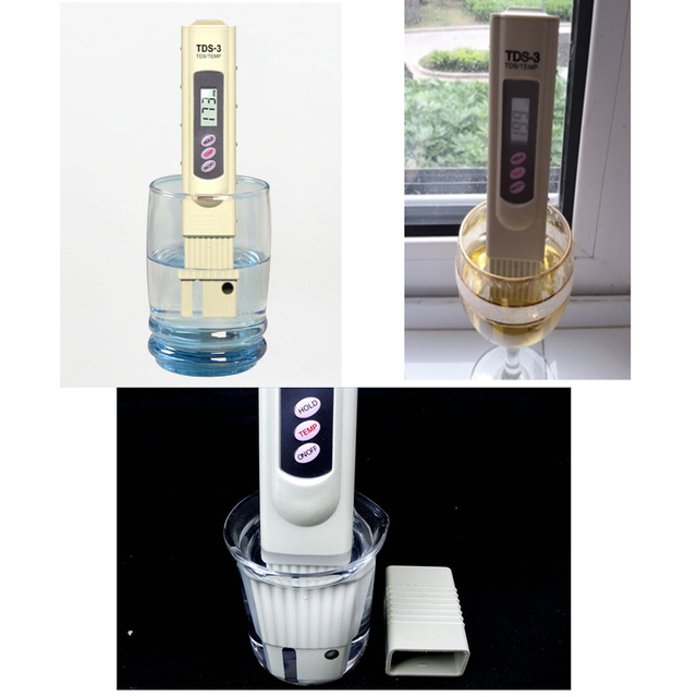 1pcsTDS-3 water filter Portable Pen Type Digital TEMP Meter Tester Filter Water Quality Purity tester for water purifier