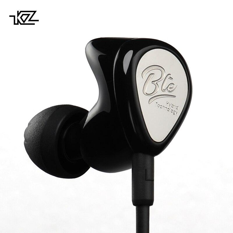 KZ BTE Bluetooth BA+DD In Ear Earphone Hybrid Headset HIFI Bass Noise Cancelling Earbuds With Mic APTX MIC KZ ZS5 ZS6 AS10 kz zs10 earphones 4ba 1 dd hybrid in ear headphone hifi bass headset dj monitor earphone earbuds kz zs6 as10 zst es4 ed16