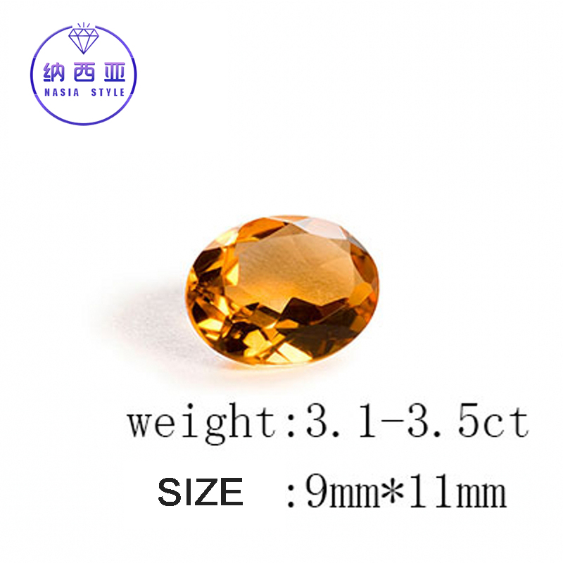 3.1-3.5ct carat Natural Bulk Yellow Citrine Crystal From Brazil Section Irregular Shape Fit For DIY Fine Jewelry