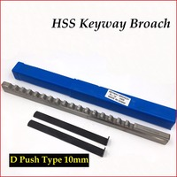 Keyway Broach Cutting Tool Metric Size 10mm D Push-Type with Shim HSS Broaching Cutting Tool for CNC Router