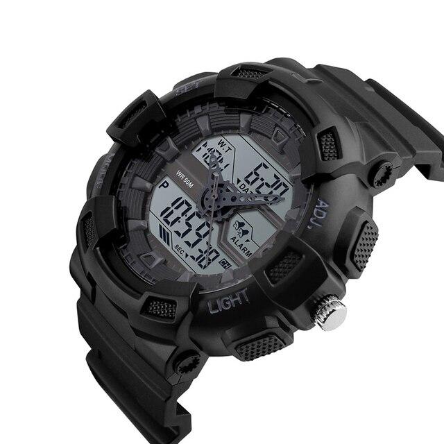 Электронные Автоматические водонепроницаемые часы Моды для Мужчин Смотреть лучшие качества мужские знаменитые часы армия наручные часы военные старинные силиконовые