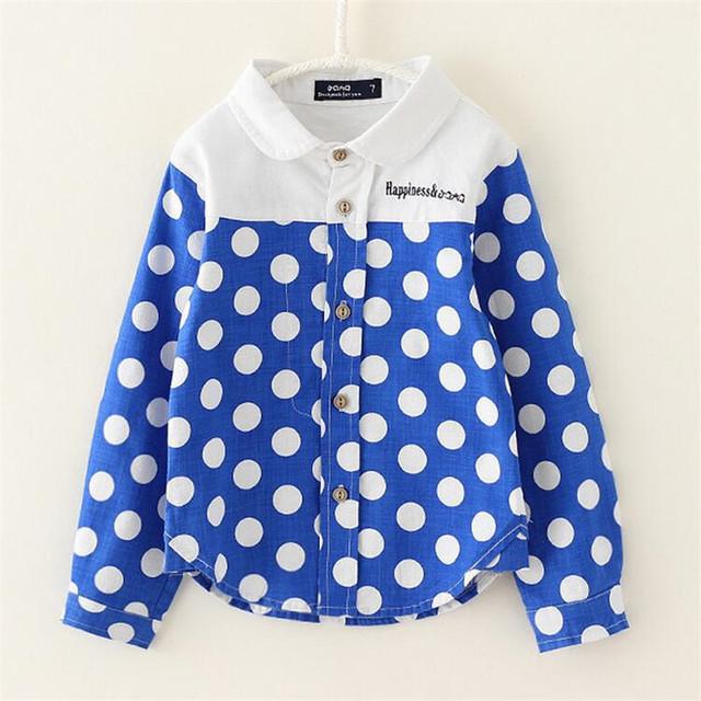 2016 recién llegado de niños otoño de manga larga de punto camisas Kids imprimir Casual camisetas de los bebés de la marca moda cáñamo algodón camisas