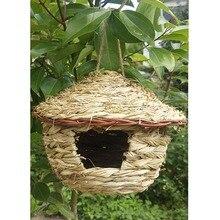 Аксессуары для птичьей клетки, украшение для птичьего домика, попугай, Висячие травы, плетенные качели, гнездо ту