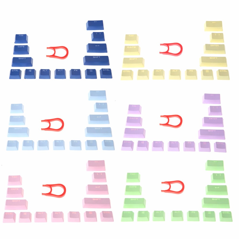 14 Key Caps Multicolor PBT Mechanical keyboards Keycap For Cherry MX