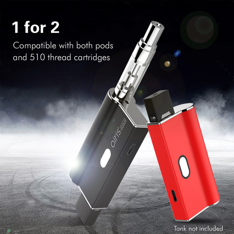 New! AIRISTECH Airis Janus 2in1 Vaporizer Vape Battery For Nic Salt Pod And 510 Thread CBD Cartridge Voltage Control Pod System