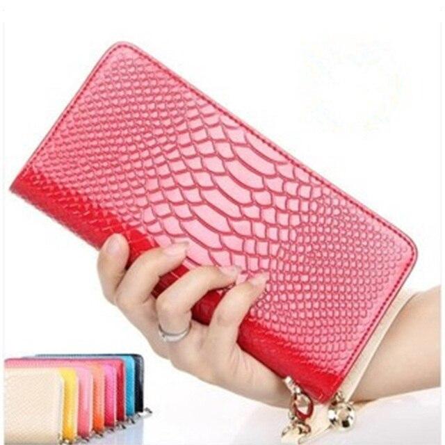 2016 New Fashion Spot Leather Women Bag Coin Purse Female Zipper Pockets Coin Purses Women Clutch Wallet Handbag Free Shipping