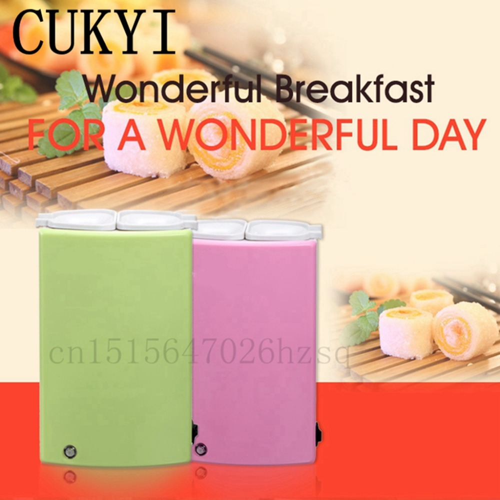 CUKYI Dual-tube Electric Egg Boiler Automatic Egg Roll Maker Cooking Tools dual-tube Egg Cup Omelette Master Sausage Machine cukyi double layer multi function electric egg cooker boiler stainless steel automatic power off mini