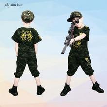 купить Children Sale Clothing Set Baby Boy And Girl's Clothes 2019 Summer New Camouflage Short-sleeved T-shirt / Pants 2 Sets Kids  по цене 838.89 рублей