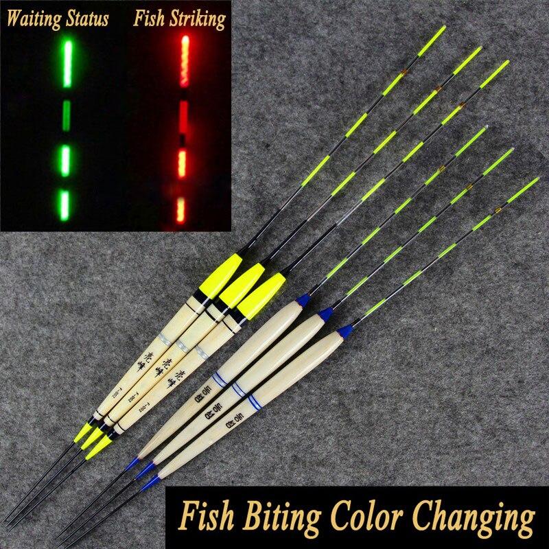 2 unids piezas carpa pesca nocturna flotador electrónico inductivo luminoso eléctrico Bobbers Drifts batería pesca aparejos