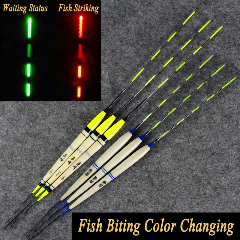 2PCS Carp Fishing Night Fishing Inductive Electronic Float Luminous Elec Bobbers Drifts Battery Fishing Tackle