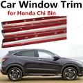 Heißer verkauf Auto Styling Zubehör edelstahl helle silber Auto Fenster Trim Abdeckung Für Honda Chi Bin-in Chrom-Styling aus Kraftfahrzeuge und Motorräder bei