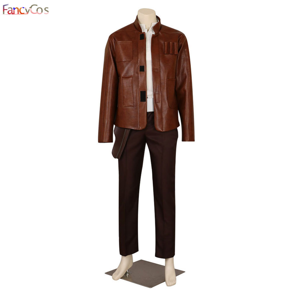 Halloween Star Wars The Force Awakens  Han Solo Jacket Cosplay Costume Game Adult Costume Movie High Quality Deluxe