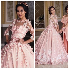 Crockoonboo Quarter Sleeves A-Line Wedding Dresses With