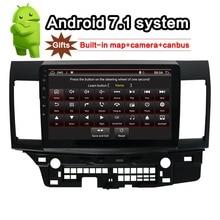 Para MITSUBISHI LANCER Android 7,1 Car Radio 10,1 pulgadas 2din GPS navi con cámara trasera + canbus + construido- en el mapa de la unidad 2010 ~ 2016