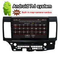 for MITSUBISHI LANCER Android 7.1 Car Radio 10.1 inch 2din GPS navi with rear camera+canbus+built in map head unit 2010~2016