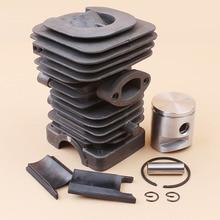 Купить с кэшбэком 39mm Cylinder Piston Kit Fit HUSQVARNA 235 236 236E 240 240E Chainsaw 10mm Pin Engine Motor Parts #545050417