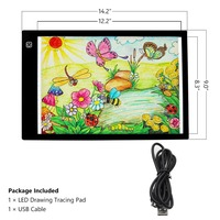 LED USB Powered Ultra Thin A4 LED Drawing Pad Animation Tracing Light Box Lightbox Tablet Board