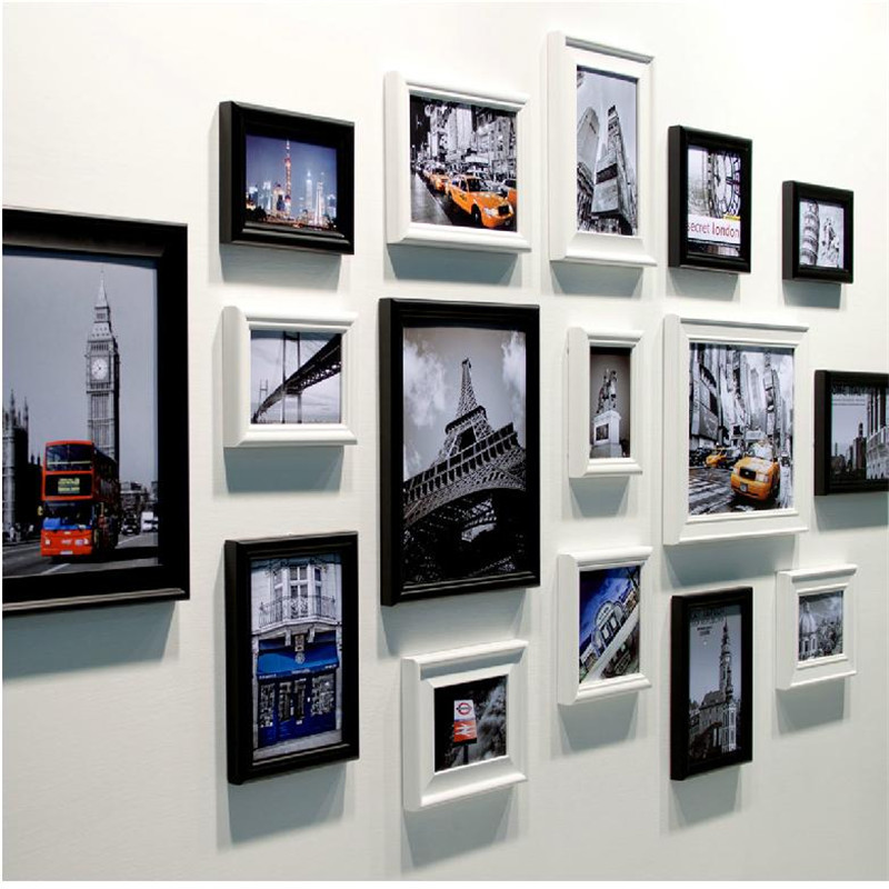 Buy fashion landmark wall photo frame for Cadre multi photos mural
