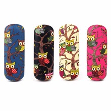Glasses Box Cartoon Owl Animal Cute Sunglasses Storage Protector Portable Cases Women