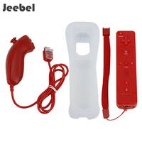 Jeebel Vii Gamepads Wireless For Nintend Wii Game Remote Controller + Nunchuck with Silicone Case for Nintend Wii Game Console