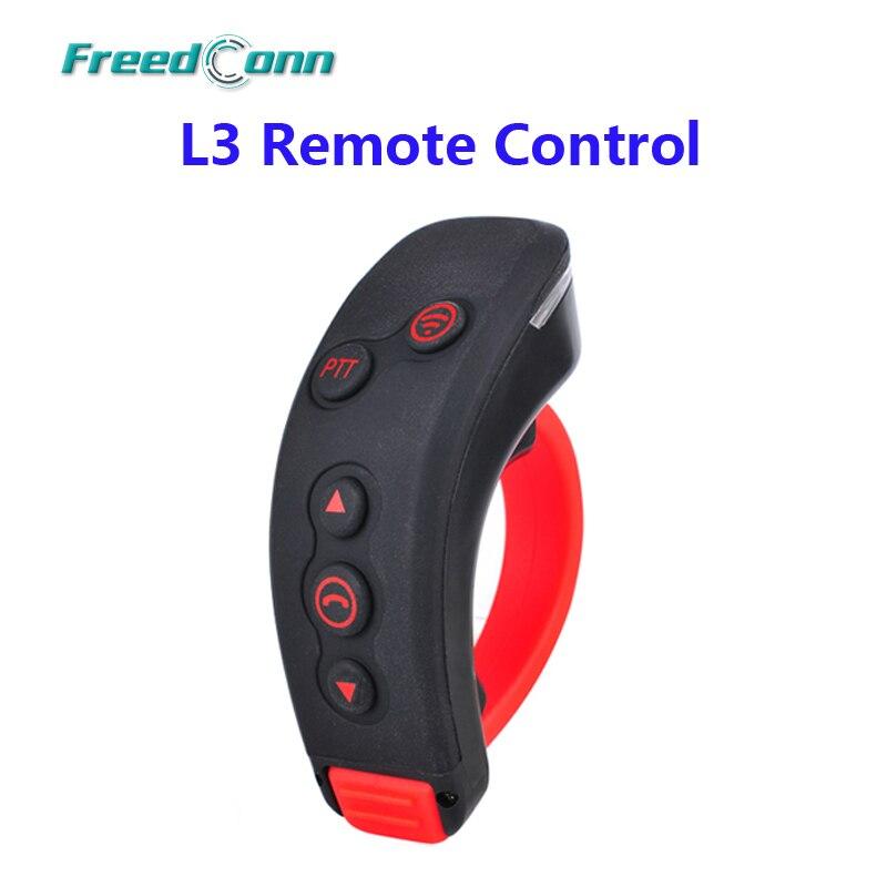 FreedConn L3 PTT Handbar BT Télécommande Bluetooth Moto Vélo Casque Interphone Casque Pour L1, L2, COLO-RC, T-REX
