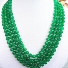 Красивые 8 мм натуральный камень зеленый халцедон нефриты Круглый