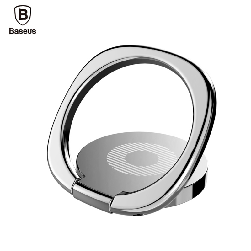 Original Baseus Universal <font><b>magnetic</b></font> <font><b>Phone</b></font> <font><b>Holder</b></font> 360 Rotate Luxury Aluminum Alloy Finger <font><b>Ring</b></font> stand Bracket with retail Box