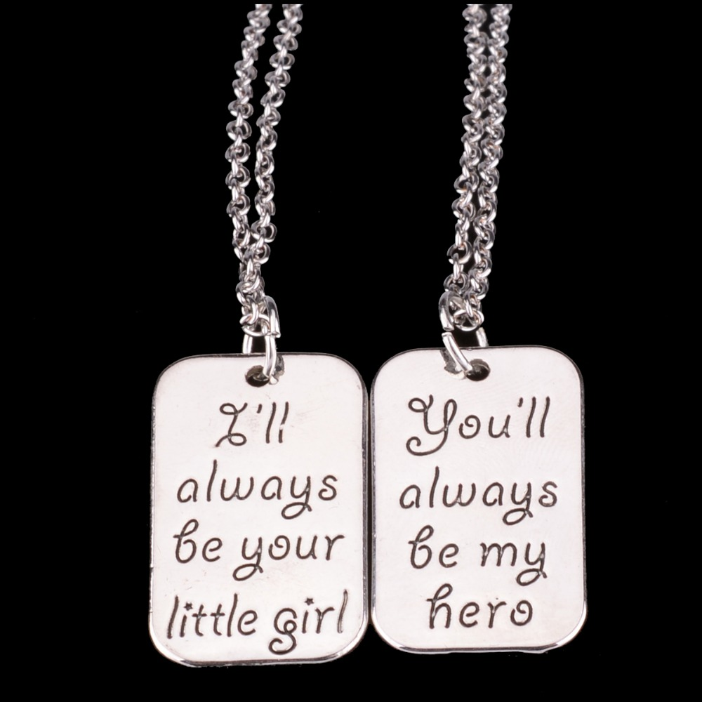 Charm little girl dad my hero daddy father papa daughter pendant charm little girl dad my hero daddy father papa daughter pendant necklace family party men girls femme jewelry collier choker in pendant necklaces from mozeypictures Choice Image