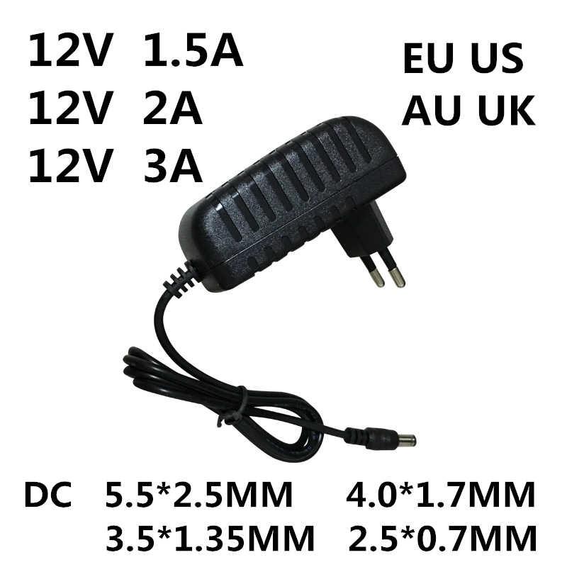 1PC AC 100-240V DC 12 V 0.5A 1A 1.5A 2A 3A konwerter ładowarka 12 V Volt dla taśmy LED EVD CCTV