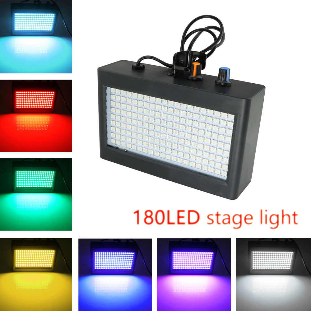 180 Leds Strobe Flash Light Portable Sound Control Strobe Speed Adjustable for Stage Disco Bar Party ktv Club