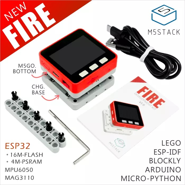 M5Stack NEW PSRAM 2 0 FIRE IoT Kit Dual Core ESP32 16M FLash 4M PSRAM Development