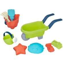 все цены на Kids Beach Toy Set Children Summer Silicone Shovel Tool Kit Sand Bucket Rake Hourglass Sandbox Set онлайн