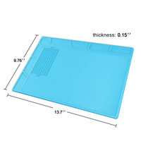 Heat Resistant Insulation Silicone Mat Soldering Mobile Phone Repair Tool Insulator Pad Maintenance Platform For Cell