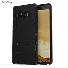 BYHeYang For Samsung Galaxy Note 8 Case Slim Hard Back Phone Case Robot Armor Protector Rugged Rubber Cover For Galaxy Note 8