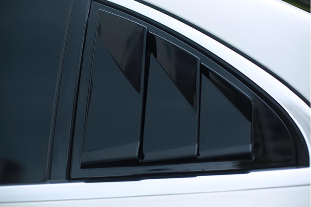 JINGHANG 2 pièces ABS porte fenêtre persienne cadre fenêtre seuil moulage revêtement d'habillage pour benz e-class W213 2016 2017 2018